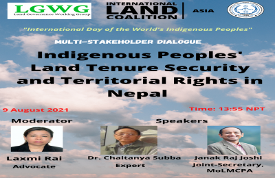 Multi-Stakeholder Dialogue on Indigenous Peoples' Land Tenure Security and Territorial Rights in Nepal