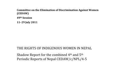 CEDAW Shadow Report, 49th Session