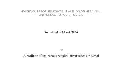 Indigenous Peoples Joint Submission of Nepal's 3rd UPR Cycle