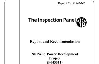 The World Bank Inspection Panel Report and Recommendation