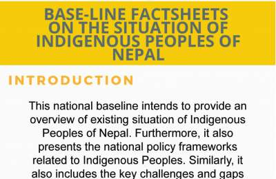 Baseline factsheets on the situation of indigeneous people of nepal