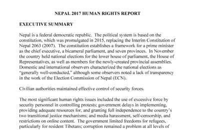 Nepal 2017 Human Rights Report US Embassy